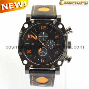 Men Leather Sports Watch (SA1130-1)