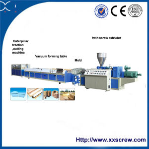 High Quality Wood Plastic Profile Extrusion Machine pictures & photos