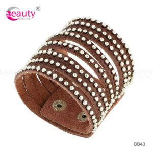 Wholeslae Brown Leather Charm Bracelet for Europe Market