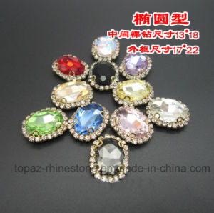 Rhinestone Strass with Metal Claw Setting Sew on Accessories (SW-13*18) pictures & photos