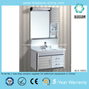 Wall Mounted Two Door and Two Drawers Bathroom Cabinet (BLS-16003) pictures & photos