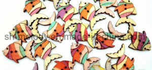 Multicolor Wooden Buttons/Icons for Scrapbooking & DIY Crafts pictures & photos
