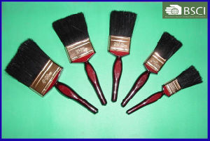 Shsy-2002-Bc-B Red Wooden Handle Black Bristle Paint Brush pictures & photos