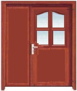 Good Price MDF Door with PVC Veneer (with frosted glass)