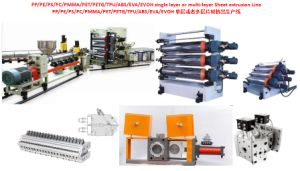 PP/PE/ PS/PC/PMMA/Pet/PETG/TPU/ABS/EVA/EVOH Plastic Sheet Production Line Extruder Plate Equipment Manufacturing Line (single layer or Multi-layer sheet) pictures & photos