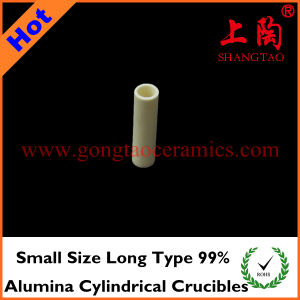 Small Size Long Type 99% Alumina Cylindrical Crucibles pictures & photos