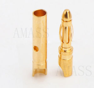 2.0mm Gold Plated Conenctor, Bullet Connector