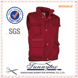Winter Men′ S Padded Vest with Hood pictures & photos