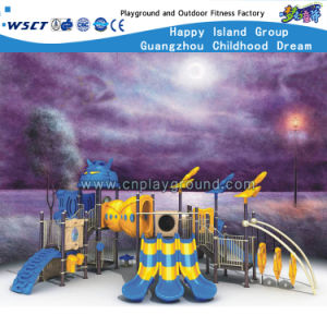 Children Three Slide Equipment Outdoor Playground Kids Playsets HD-Zba1201 pictures & photos