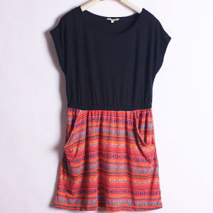 Combo Short Dress with Two Pocket (LD-045)