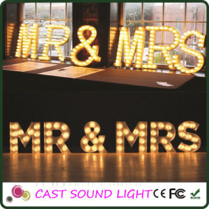 Shining Marquee LED Letter Stage Wedding Decoration pictures & photos