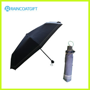 "21"" *8k Wholesale Deep Blue 3 Folding Sun Umbrella pictures & photos"