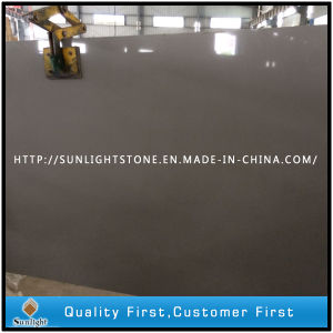 Cheap Artificial Dark Grey/Chocolate/Brown Quartz Stone, Quartz Stone Slabs pictures & photos