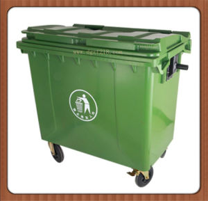 China 660L High Quality Plastic Industry Dustbin with Lid Manufacturer pictures & photos