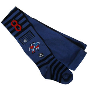 Boy Cotton Tights with Design in The Leg (T-27)