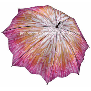Heat Transfer Full Flower Printing Straight Umbrella (YSC0018) pictures & photos