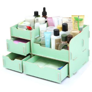 DIY Cosmetic Make up Organizer Cosmetic Jewelry Storage Box pictures & photos