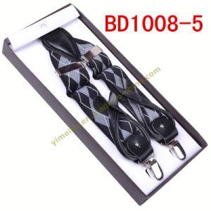 Men′s Jacquard Argyle Button/Clip Suspender (BD1008-5) pictures & photos