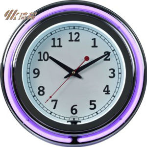 Double Ring Neon Wall Clock