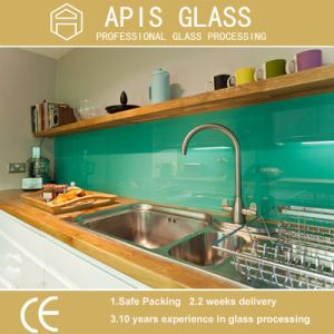 RoHS-Compliant Colored Ceramic Fritted Printing Glass/ Kitchen Backsplash Worktop Glass pictures & photos