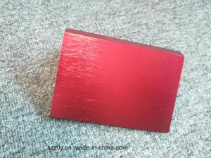 6063 Brushed and Anodised Red Aluminum Extrusion pictures & photos