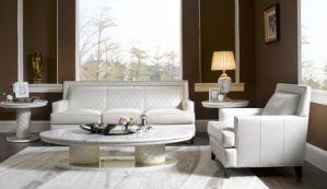 White Modern Leather Sofa Set pictures & photos