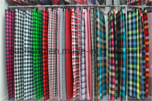 100% Polyester Yarn Dyed Check Design Shirt Fabric pictures & photos