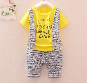 Korean Style Baby′s Fashion Cotton Suit pictures & photos