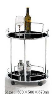 Two Layers Stainless Steel Trolley for Wine (FD-5111) pictures & photos