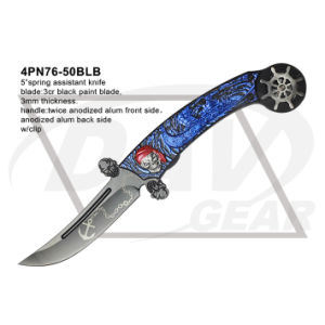 "5"" Closed Folding Fantasy Knife with Twice Anodized (blue&black) pictures & photos"