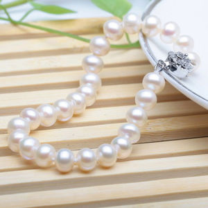 8-9mm Round White Freshwater Cultured Pearl Bracelet pictures & photos