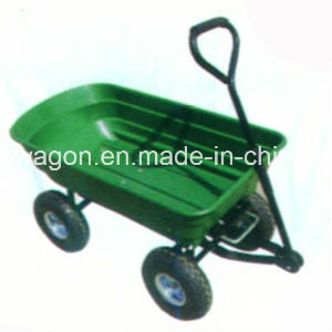 Factory Outlets Center Handy Plastic Four Wheels Garden Tool Cart pictures & photos