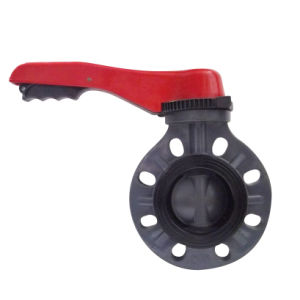 Butterfly Valve /Industrial Plastic Valves/PVC butterfly valve pictures & photos