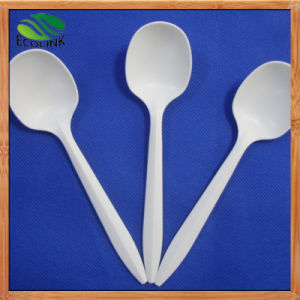 Custom 6 Inch Disposable Biodegradable Coffee Spoon with Cornstarch pictures & photos