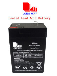 6V4ah Toys Rechargeable Maintenance Free Sealed Lead Acid Battery pictures & photos