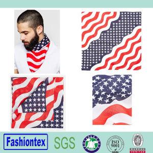 Custom Scarf Hiphop Handkerchief National Flag Bandana pictures & photos