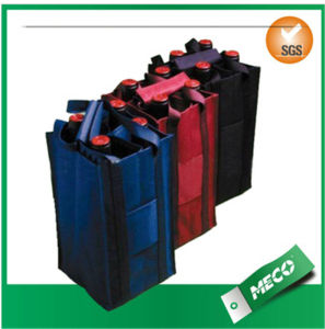 6 Bottle Paper Cooler Wine Bag/Bottle Wine Bag/Non Woven Wine Bags (MECO499) pictures & photos