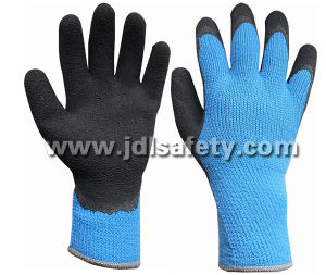 Ce Approved Hi-Viz Acrylic Work Glove with Latex Foam Coating (LY2035B) pictures & photos