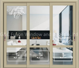 Top Quality Aluminum Horizontal Sliding Glass Door for Central America pictures & photos