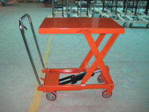 300~750kg Scissor Lift Pallet Truck with High Quality pictures & photos