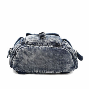 2015 Women Fashion Rivets Leisure Lady Denim Backpack (MBNO040039) pictures & photos