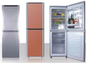 Double Door-Down Freezer Refrigerator 208L pictures & photos