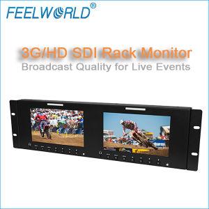 7′′ Dual Rack Mount LCD 3G HD Sdi Monitor Perfect Broadcast Quality Scopes