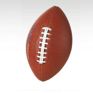 American Football, Size 9, Leather Cover, Machine-Stitching (B04101) pictures & photos