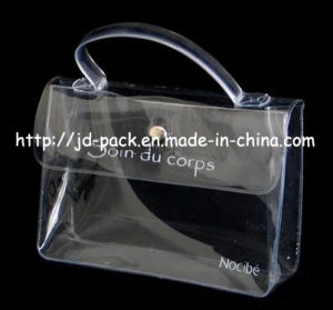 Clear Cosmetic Bags/PVC Handle Bag pictures & photos