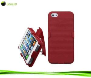 Armor Shell Protective Case with Holster for iPhone 5 (Red)