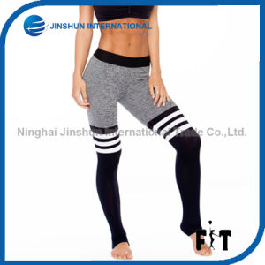 Fashion Leggings Sport Fitness Split Color Block Women Pants pictures & photos