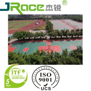 Professional Sport Court Surface with PU Coating pictures & photos