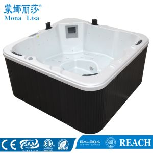 Outdoor Deluxe Hydro Aqua Air Bubble Jets Whirlpool Massage Acrylic SPA Bathtub (M-3352) pictures & photos