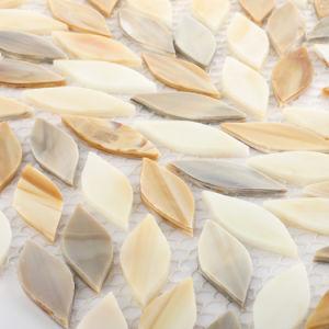 Decorative Tile Leaf Shape Stained Glass Mosaic for Bathroom Backsplash pictures & photos